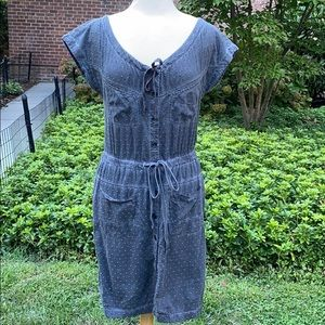 DKNY Gray Button Front Dress